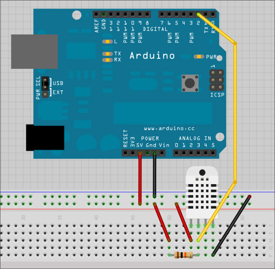 Impararduino utilizzare sensore temperatura e umidità